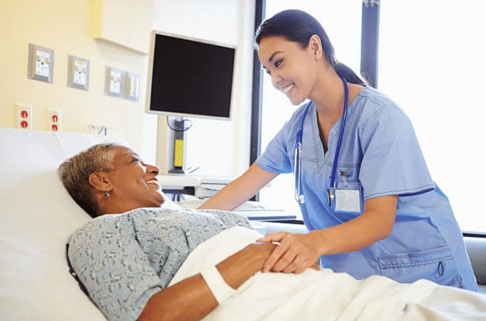 nurse at bedside